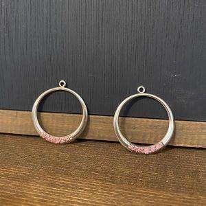 Pandora Retired 290634CZS Salmon Hoop Earring Chrm